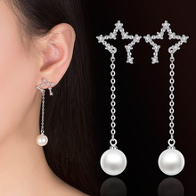 Fashion Long Geometric asymmetry Rhinestone circle earrings new fashion earring for women Gift Party Trendy Accessories
