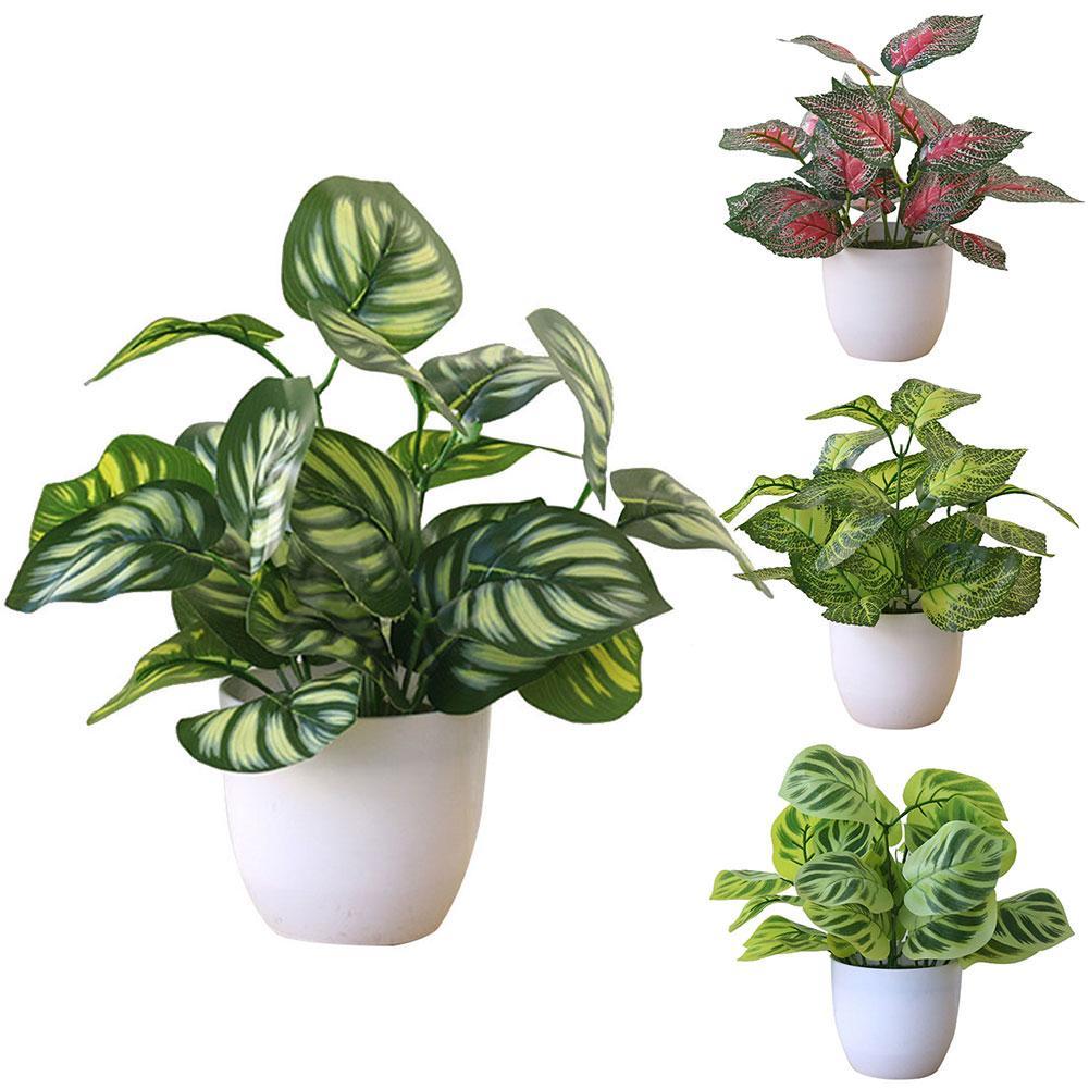 Искусственные растения, зеленое искусственное дерево в горшке, украшения для дома, новое украшение для офивечерние, отеля, торгового центра...
