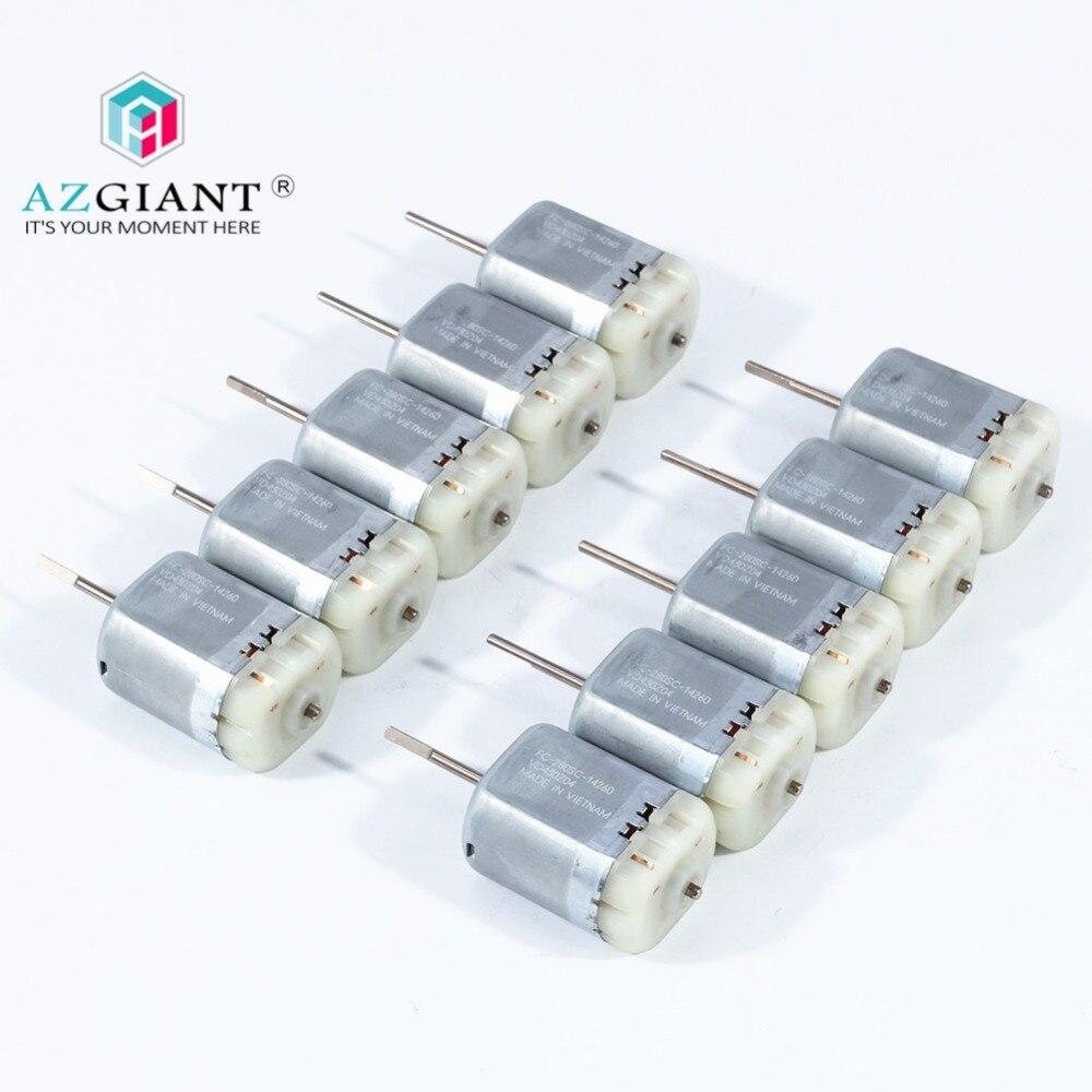 AZGIANT 1-10pcs 12V DC Car Door Lock Motor FC 280SC 14260 Miniature Carbon Brush 280 Motor 6800rpm For Mabuchi D CUT Shaft