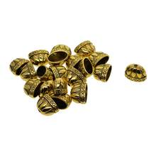 20Pcs Lotus Flower Tassel Cap Cord End Crimp End Clasps Connector Charms for Leather Cord DIY Jewelry Findings(China)