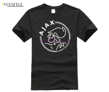 2019 Fashion ajax t shirts Funny men T-shirts Short Sleeve T Shirts Luxury Summer Cotton Tee Plus Size Hip Pop Tops Tees