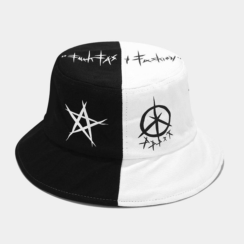 Summer Cotton Bucket Hat Patchwork Graffiti Men Women Outdoor Hip Hop Foldable Bob Fisherman Hat Casual Travel Gorros Panama