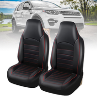 2pc/set Luxurious Car Seat Covers PU Leather Auto Front Seat Cushion Protector Interior Accessories
