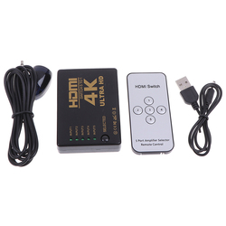 4K*2K HDMI Switcher HDTV 1080p 5-Port 3-Port Input To 1 Switch Selector Splitter Hub With IR Remote 3D
