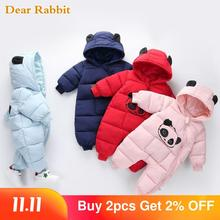 Одежда для маленьких мальчиков и девочек 2020, зимние комбинезоны с капюшоном для новорожденных, плотный хлопковый наряд, комбинезон для новорожденных, Детский костюм, комбинезон для малышей