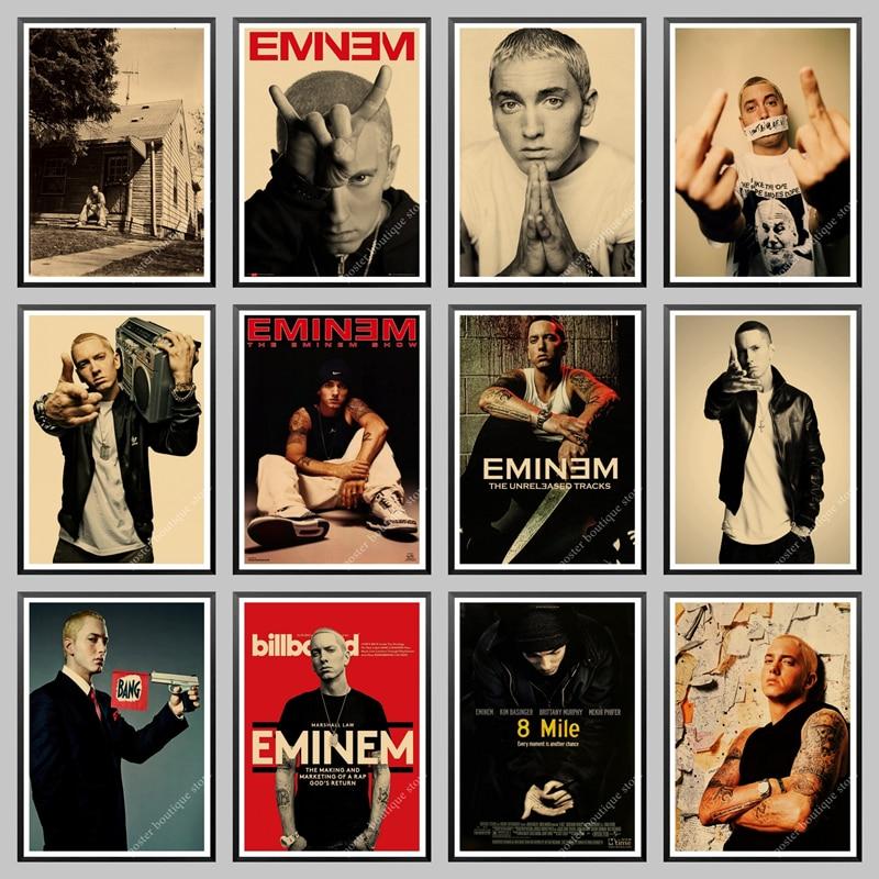 Плакат Эминем s, постер 8 миль, хип-хоп рэпер певец плакат Эминем крафт-бумага декоративная наклейка на стену