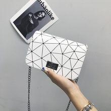 DOLOVE kadın moda omuz çantaları yeni kadın askılı çanta çanta zincir vahşi çatlak baskı vahşi Crossbody çanta