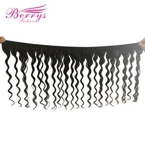 Image 3 - Модные свободные волнистые пучки Berrys с закрытием 4x 4/5x 5/6x6 перуанские натуральные волосы 100% человеческие волосы необработанные волосы утка 10 28 дюймов