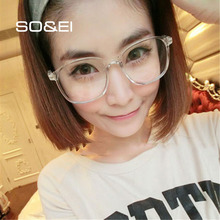 SO&EI Retro Vintage Round Women Glasses Frame Can Be Equipped with Myopia Comfortable Personality Transparent Men