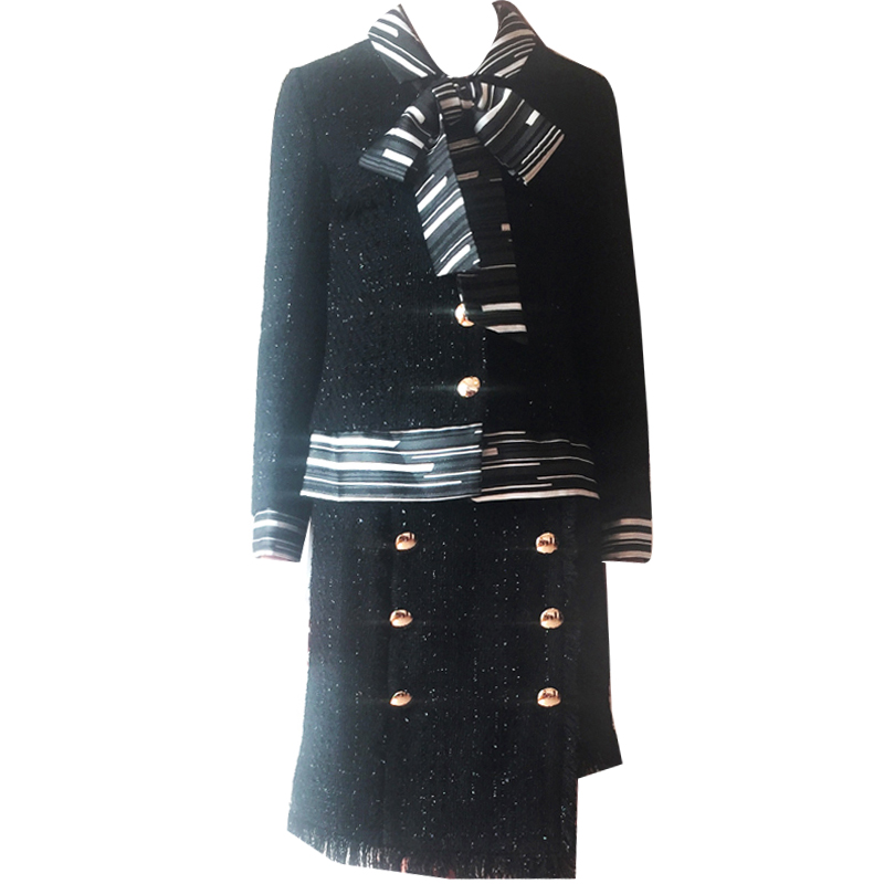 Suit Black Tweed Spring Fashion Women's Summer New Wear And Coat Xiaoxiang-Style
