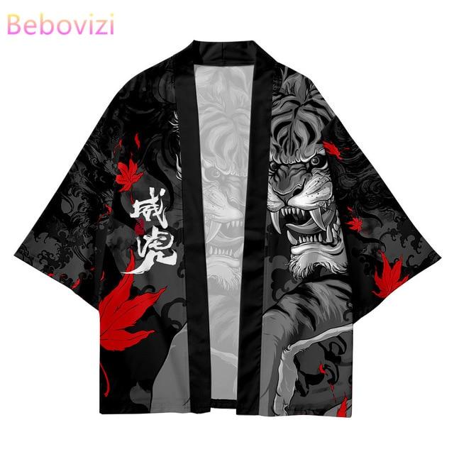 Мужской халат кимоно с рисунком в японском стиле 2