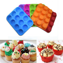 Cupcakes Mold Muffin Silicone Non Stick Resin Moulds Soap Chocolate Fondant Baking Pan Cup Cake Form Cake Decorating Tools