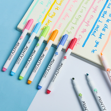 16pcs Minty smell highlighter pen set Soft tip Mild Fluorescent color marker liner drawing pens Stationery Office School A6790