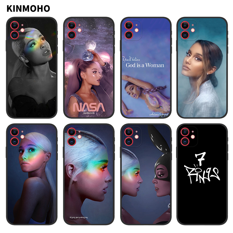 <font><b>Ariana</b></font> <font><b>Grande</b></font> 7 Rings Phone <font><b>Case</b></font> For <font><b>iPhone</b></font> 11 Pro MAX X XS XR 7 8 Plus <font><b>6s</b></font> 6 5s Se 5 Coque image