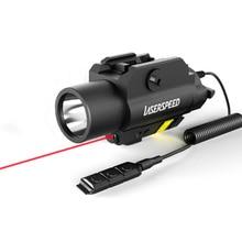Drop Shipping LASERSPEED LS CL2 Rสีแดงลำแสงเลเซอร์และไฟฉายยุทธวิธีสำหรับปืนพกด้วยStrobe Light