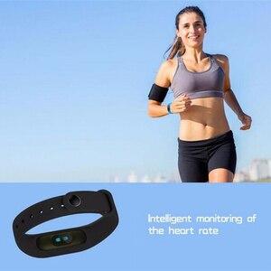 Image 4 - M2 braccialetto sportivo intelligente frequenza cardiaca rilevazione dellossigeno nel sangue monitoraggio del sonno sano pedometro braccialetto sportivo intelligente