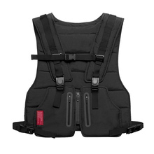Multi function Tactical Chest Bag Vest Outdoor Sports Fitness Men Protective Reflective Tops Vest Oxford Phone Waistcoat