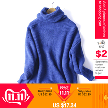 Sweater Oversize Solid Turtleneck