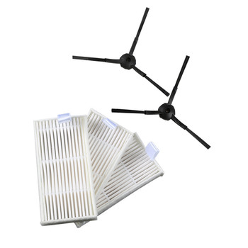 3x Robot HEPA filter and 2x Side Brush for Kenwood VC2711 Robotic Vacuum Cleaner Parts