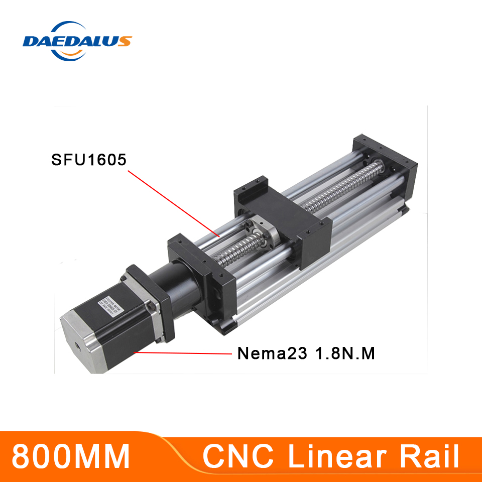 Cnc Rail 1605 Ball Screw Slide Linear Guide Cnc Kit for Kossel Mini Linear Actuator System Module Table 800mm Stroke Length