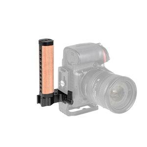 Image 5 - Kayulin מהיר שחרור עץ ידית אחיזה עם Arca שוויצרי Quickset מתאם עבור DSLR מצלמה ערכת כלוב