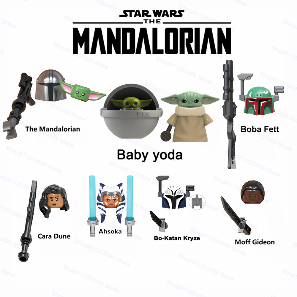 DISNEY Mandalorians Baby Yodas Ahsoka Building Blocks Star Stormtroopers Luke Skywalker Boba Fett Obi-wan Wars Action Figure Toy