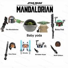 Action-Figure-Toy Building-Blocks Luke Skywalker Boba Star Fett Yodas Mandalorians Stormtroopers