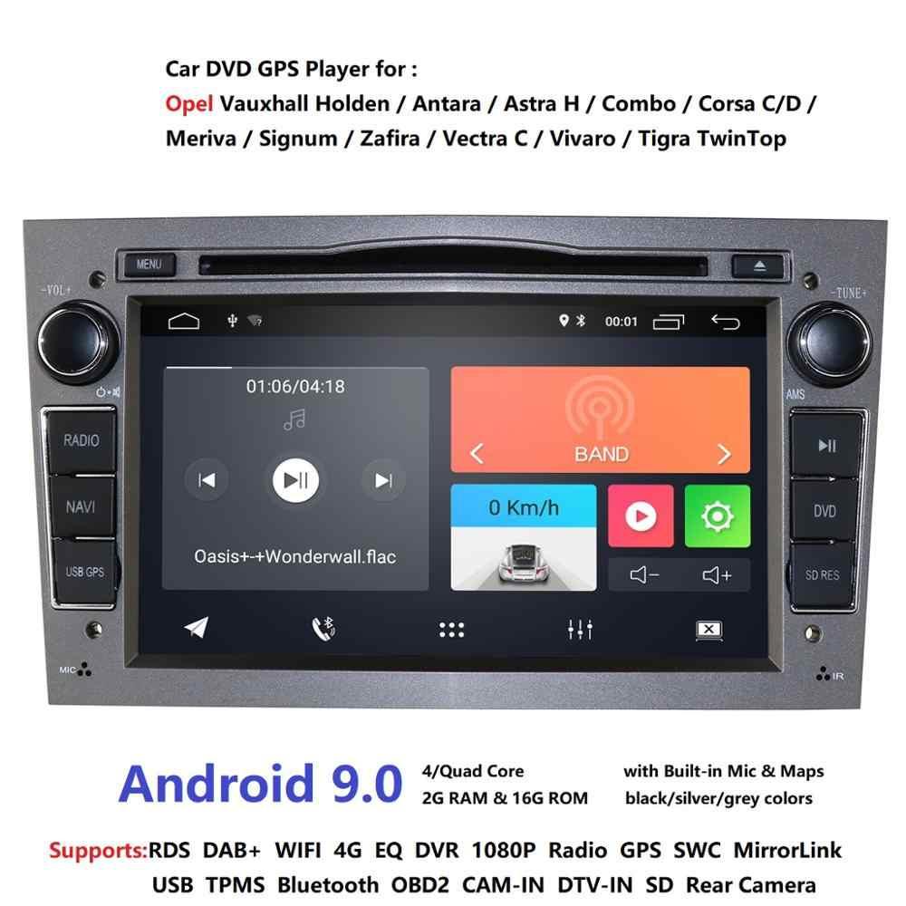 Android 9.0 2Din 4G voiture lecteur DVD indash navi autoradio stéréo pour Vauxhall Opel Astra H G J Vectra Antara Zafira Corsa DSP IPS