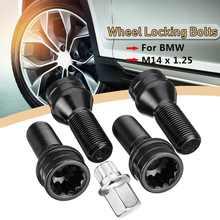 4 unids/set M14 x 1,25 rueda hub de pernos tuerca Anti-robo tornillo con llave para BMW R50 R52 R53 1, 2, 3, 4, 5, 6 7, serie Mini