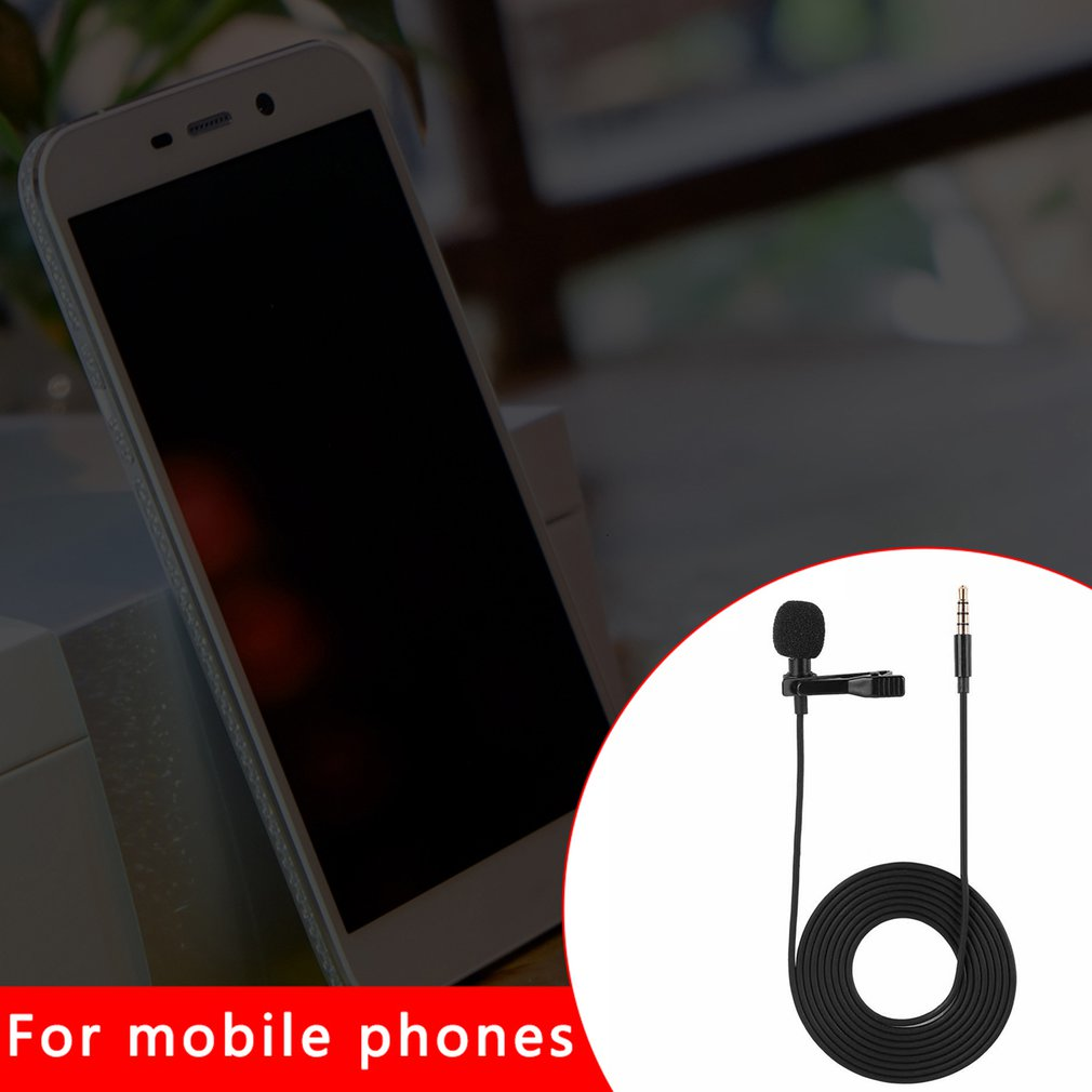 Мобильный Телефон Проводной Петличный Микрофон Конденсаторный Микрофон Для Домашнего Использования Компьютера Для Записи Интервью Вещания Только
