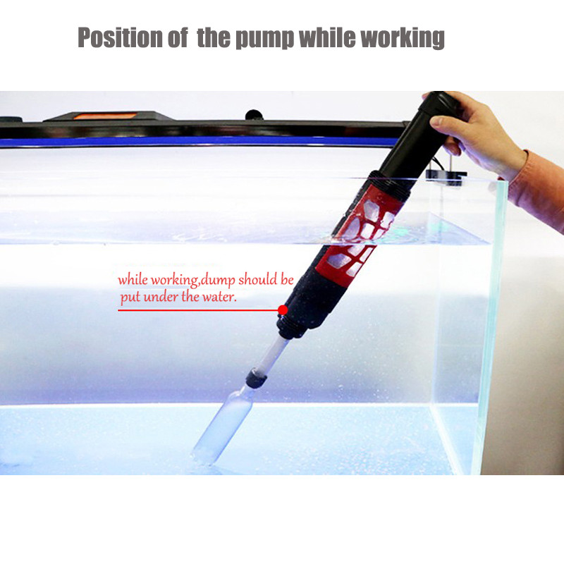 Automatic Aquarium Gravel Cleaner Electric Water Filter Washer Siphon Vacuum Water Changer Pump for Fish Tank05