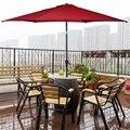GIANTEX 10 футов 6 ребер патио зонтик с кривошипом высокое качество стали наклона солнцезащитный тент дождевик УФ Защита пляжный зонтик
