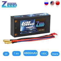 Zeee 2S Shorty Lipo 7.4V 4600mAh 100C batterie RC Lipo batterie avec 4mm balle Deans Ultra connecteur pour voiture camion bateau