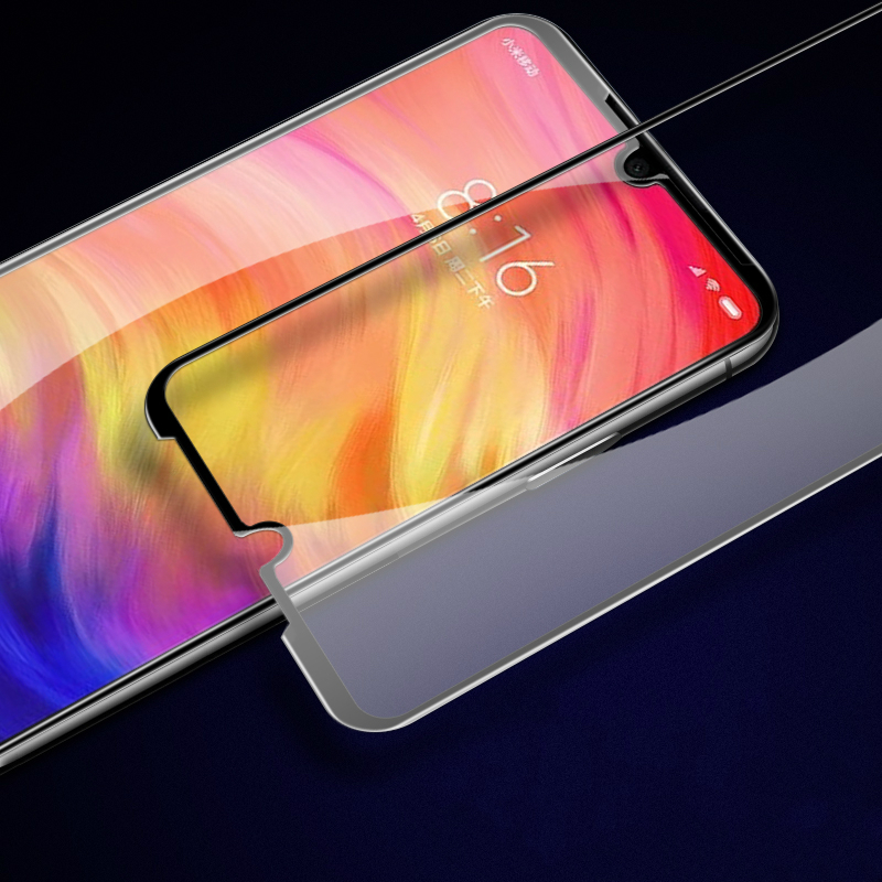 JGKK For Xiaomi Redmi Note8 Note7 Pro 7 Mi 9 9SE 5D Curved Edge Full Cover Tempered Glass Screen Protector For Redmi Note8 Pro in Phone Screen Protectors from Cellphones Telecommunications
