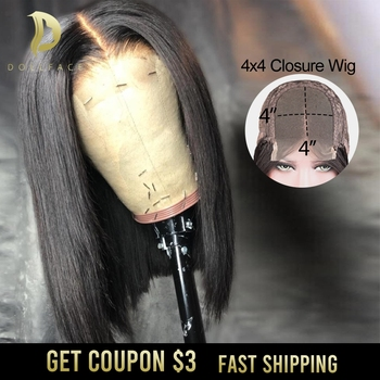 short bob lace front human hair wigs for black women straight bob closure wig hd lace closure brazilian hair black wig 4x4 remy highlight short ombre bob lace front wig blonde balayage hair extensions cheap closure wig brazilian human hair for black women