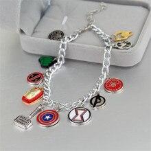 Мстители супергерой Капитан Америка Железный человек Тор чудо-женщина браслет для мужчин и женщин Подарки