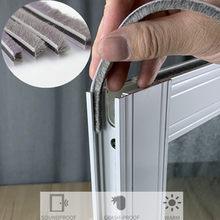 10m porta janela tira de vedação à prova de som vedação escova tempo descascamento burlete puerta mousse acoustique janela gap enchimento espuma
