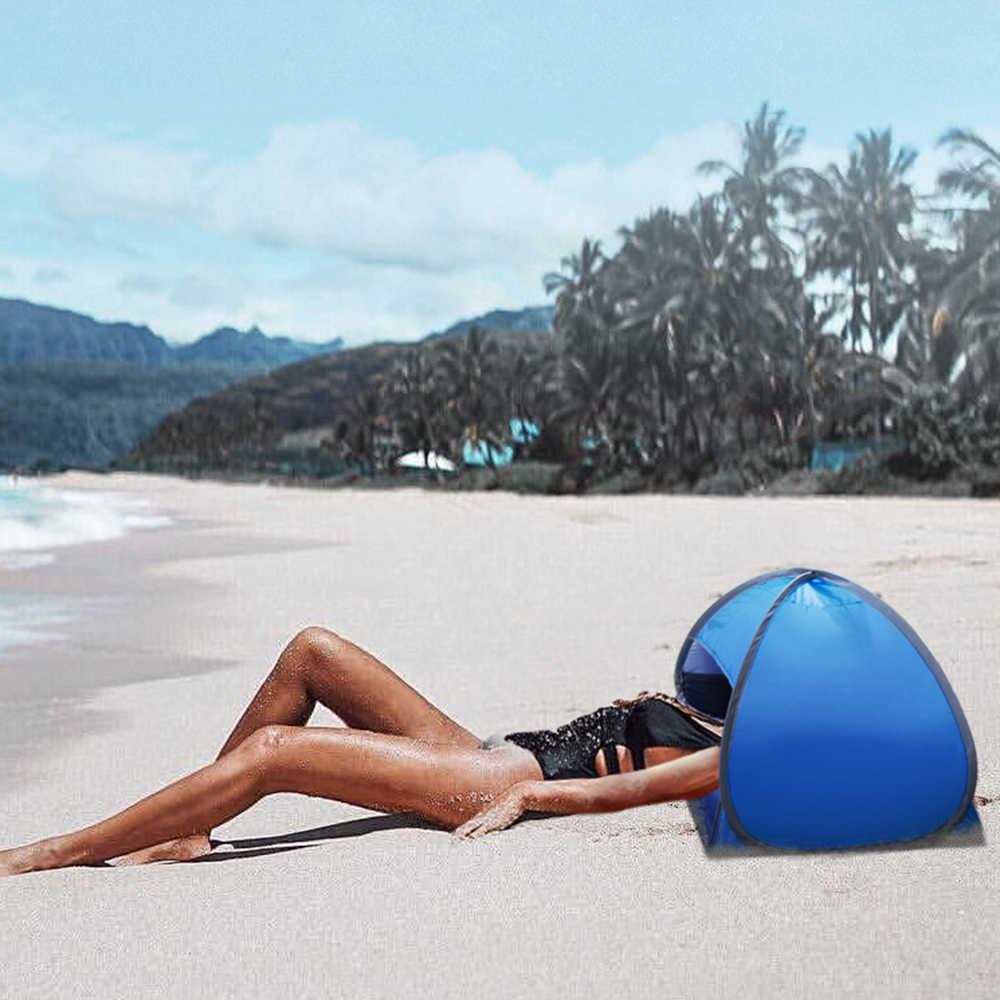 แบบพกพากลางแจ้งหัวเต็นท์เที่ยว MINI Beach Sun Shade Canopy กลางแจ้งทันทีเต็นท์ชายหาด Shelter กับกรณีพกพา