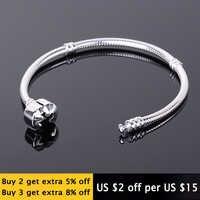 95% OFF! Fit Pandora Charms Kette Armband mit Original LOGO 925 Sterling Silber Armband 100% Zertifiziert Schmuck