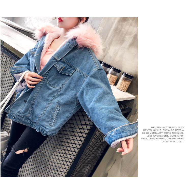 He05a2d337a7141f793c27c0b5e08bb07g LUZUZI 2019 New Warm Winter Bomber Women Winter Autumn Hooded Girls Coat Jeans Denim Jackets Basic Ladies Top Windbreaker Female