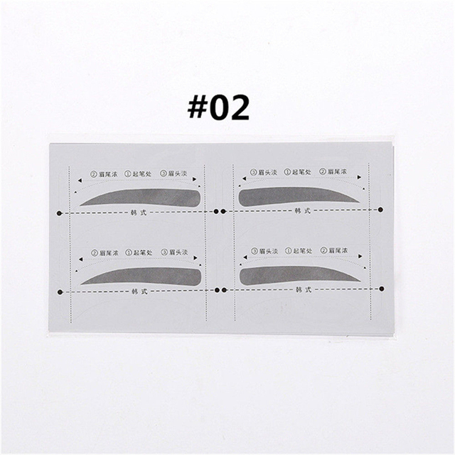 16PCS Professinal Eyebrow Template Stickers Eye Brow Eyebrow Stencils Drawing Card Stencil Card Easy Makeup Beauty Tools 4