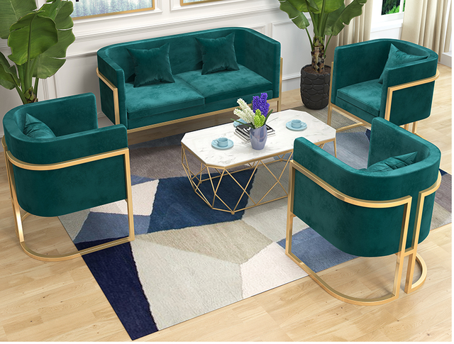 Tieyi Nordic studio talks about sofa clothing store, rest area, beauty salon, reception area, small sofa, simple and modern