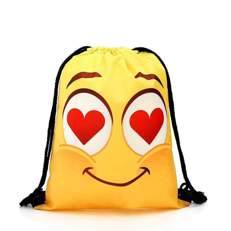 Drawstring Yellow Backpack Drawstring Shopping Bag Fashion Women Printing Travel Softback Men Casual Bags Women's Shoulder Tie