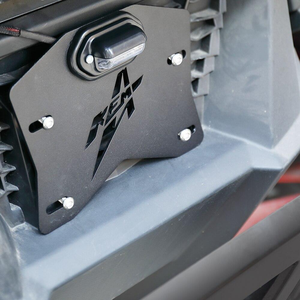 Uniwersalny tylny uchwyt mocowany do tablicy rejestracyjnej UTV dla Polaris RZR Ranger 800 900 1000 XP dla Can-am Maverick X3 Defender dla Cfmoto