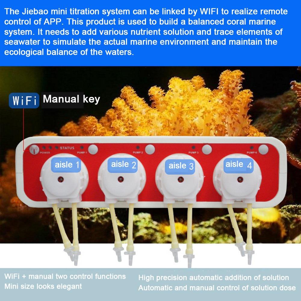 JEBAO Aquarium automatique titrage pompe corail cylindre Mini titrage pompe Plus liquide pompe doseur 3.4 WiFi lien APP contrôle