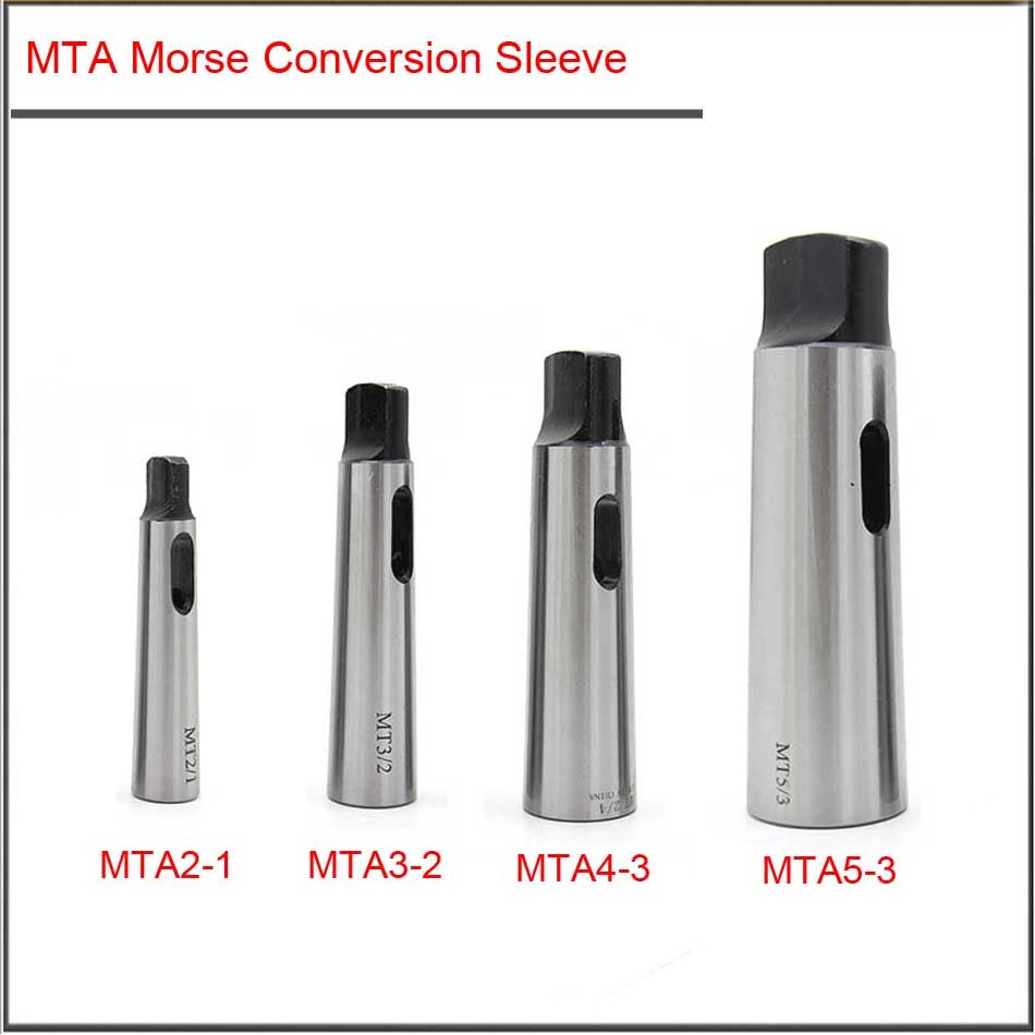 MTA5-4 MTA4-3 MTA3-2 MTA2-1 Morse Conversion Sleeve,Morse Bit Reducer,Drill Head Set With Taper Shank Without Flat Tail