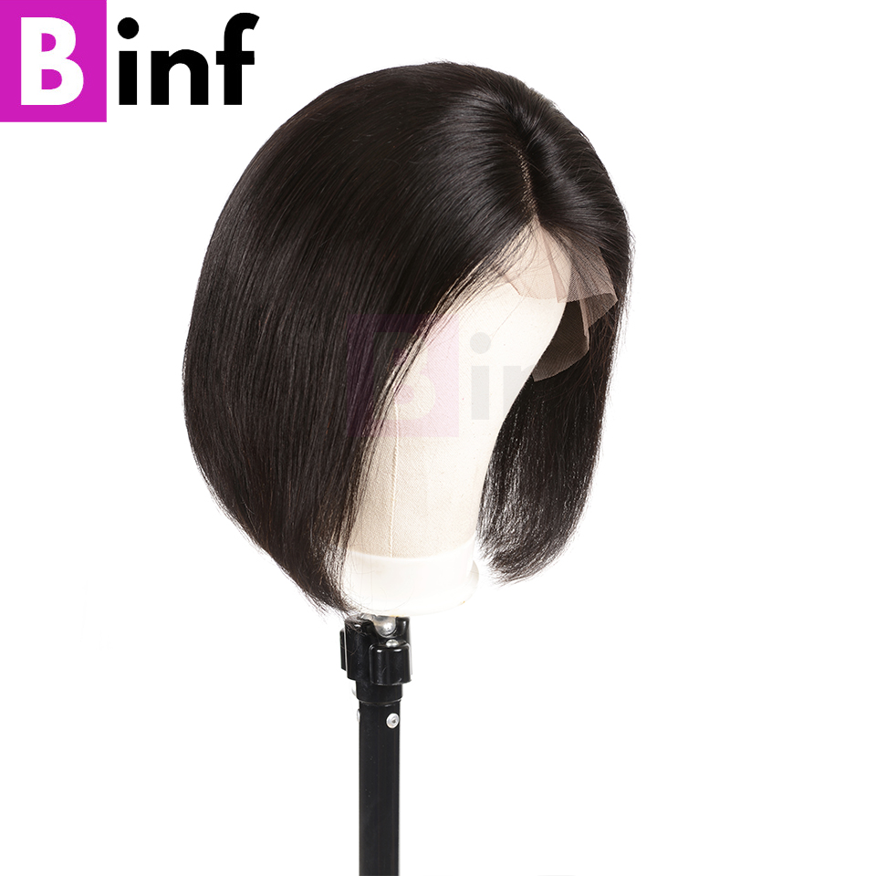 Short Straight Bob Wigs For Women Peruvian Lace Front Human Hair Wigs 13x4 Bob Lace Front