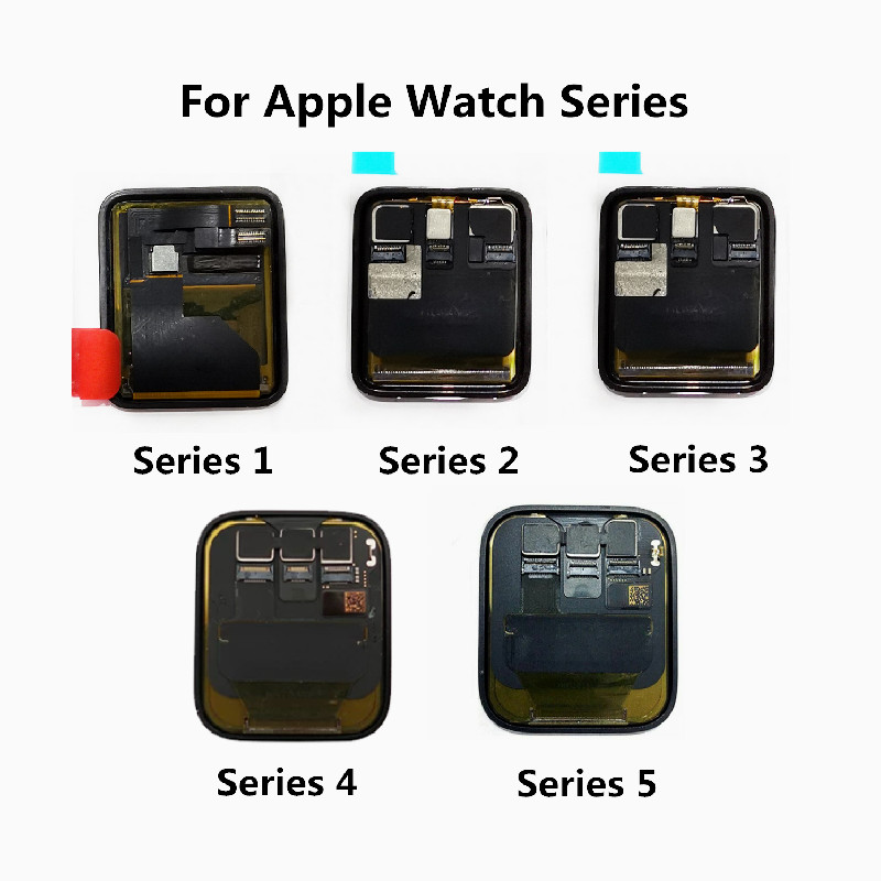 Original LCD For Apple Watch Series 4 Series 5 LCD Display Touch Digitizer For Apple Watch 1 Series 2 LCD Screen For IWatch 3