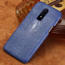 Naturale Pelle di Razza di pesce Perla cassa del telefono delle cellule Per Oneplus 6T 5 5T 6 7T 7T PRO copertura Per uno più 7 7 Di Lusso Pro Marvel