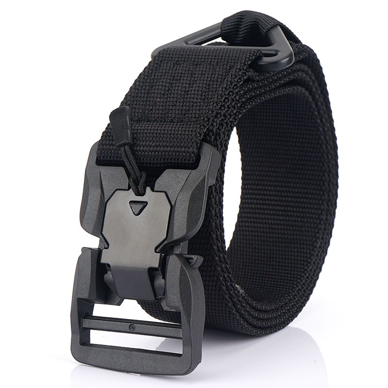 Cintura da uomo fibbia magnetica cinturino in tela militare tattica in Velcro allenamento all'aperto cinture militari multifunzionali cinturino in Nylon per uomo